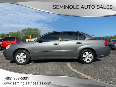 2005 Chevrolet Malibu for sale at Seminole Auto Sales in Seminole OK
