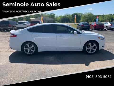 2013 Ford Fusion for sale at Seminole Auto Sales in Seminole OK