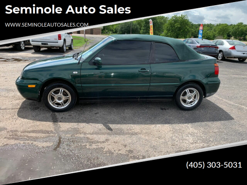2002 Volkswagen Cabrio for sale at Seminole Auto Sales in Seminole OK