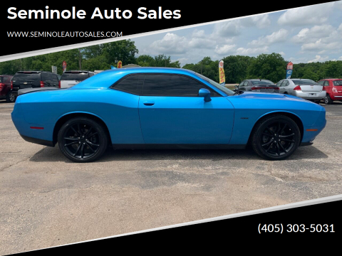 2016 Dodge Challenger for sale at Seminole Auto Sales in Seminole OK