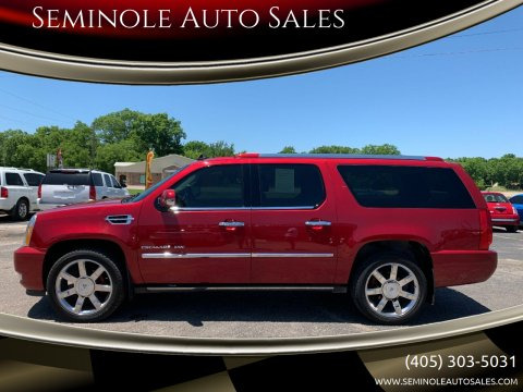 2012 Cadillac Escalade ESV for sale at Seminole Auto Sales in Seminole OK
