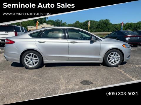 2015 Ford Fusion for sale at Seminole Auto Sales in Seminole OK