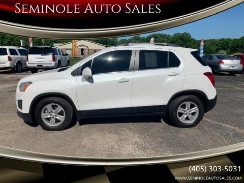 2016 Chevrolet Trax for sale at Seminole Auto Sales in Seminole OK