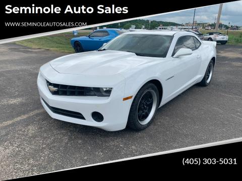 2013 Chevrolet Camaro for sale at Seminole Auto Sales in Seminole OK