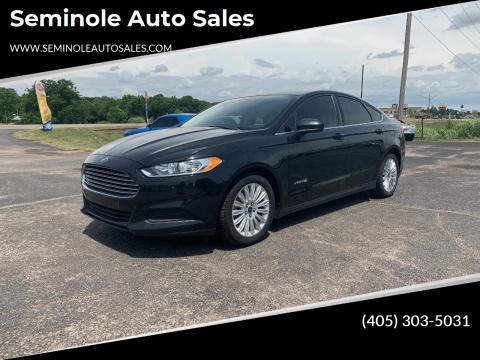 2014 Ford Fusion Hybrid for sale at Seminole Auto Sales in Seminole OK