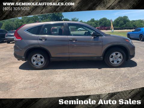 2012 Honda CR-V for sale at Seminole Auto Sales in Seminole OK