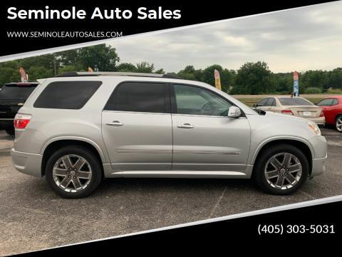 2011 GMC Acadia for sale at Seminole Auto Sales in Seminole OK
