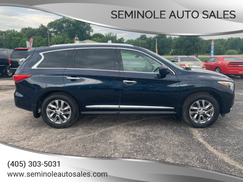 2015 Infiniti QX60 for sale at Seminole Auto Sales in Seminole OK