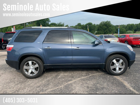 2012 GMC Acadia for sale at Seminole Auto Sales in Seminole OK
