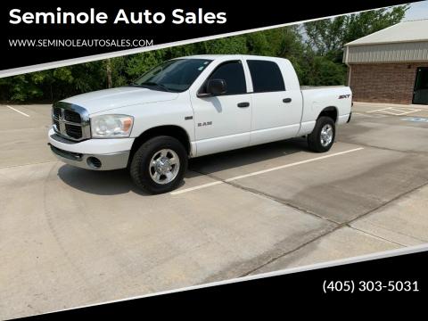 2008 Dodge Ram Pickup 1500 for sale at Seminole Auto Sales in Seminole OK