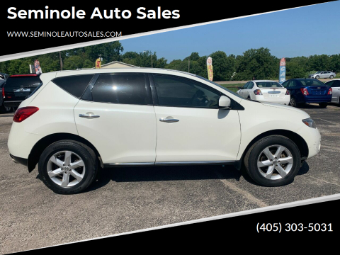 2010 Nissan Murano for sale at Seminole Auto Sales in Seminole OK