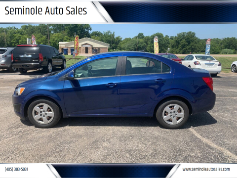 2013 Chevrolet Sonic for sale at Seminole Auto Sales in Seminole OK