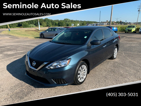 2017 Nissan Sentra for sale at Seminole Auto Sales in Seminole OK