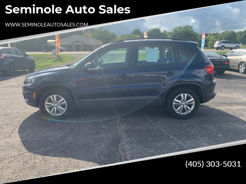 2015 Volkswagen Tiguan for sale at Seminole Auto Sales in Seminole OK
