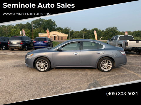 2012 Nissan Maxima for sale at Seminole Auto Sales in Seminole OK