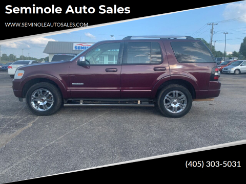 2007 Ford Explorer for sale at Seminole Auto Sales in Seminole OK