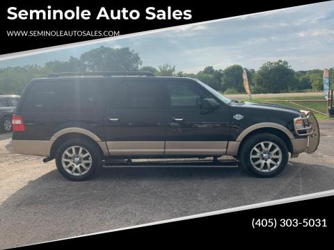 2011 Ford Expedition EL for sale at Seminole Auto Sales in Seminole OK