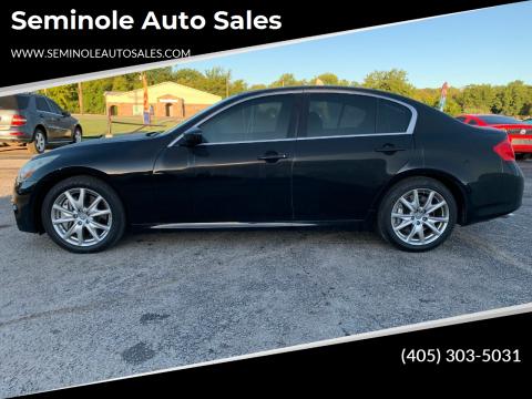 2012 Infiniti G37 Sedan for sale at Seminole Auto Sales in Seminole OK