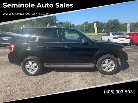 2009 Ford Escape for sale at Seminole Auto Sales in Seminole OK