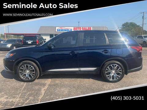 2016 Mitsubishi Outlander for sale at Seminole Auto Sales in Seminole OK