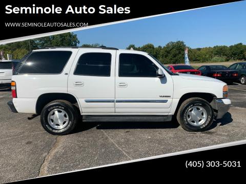 2004 GMC Yukon for sale at Seminole Auto Sales in Seminole OK