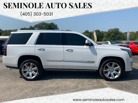 2020 Cadillac Escalade for sale at Seminole Auto Sales in Seminole OK
