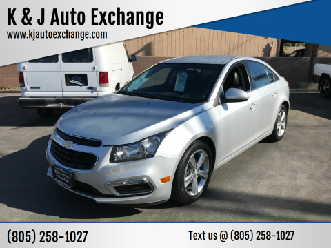 2016 Chevrolet Cruze Limited for sale at K & J Auto Exchange in Santa Paula CA