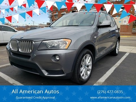 2013 BMW X3 for sale at All American Autos in Kingsport TN