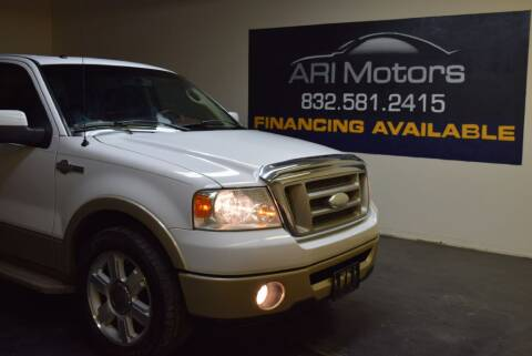 2008 Ford F-150 for sale at ARI Motors in Houston TX
