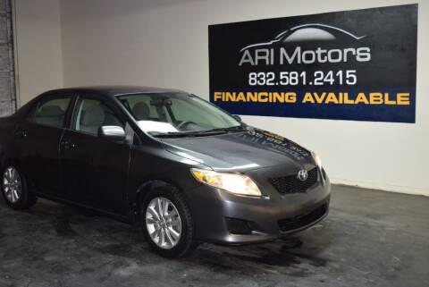 2010 Toyota Corolla for sale at ARI Motors in Houston TX