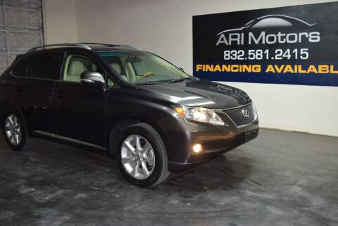 2010 Lexus RX 350 for sale at ARI Motors in Houston TX