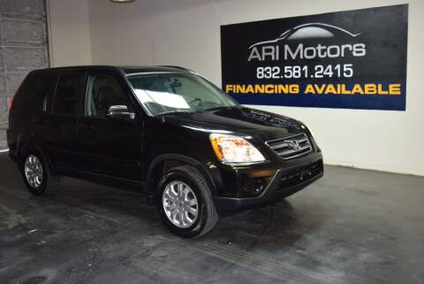 2006 Honda CR-V for sale at ARI Motors in Houston TX