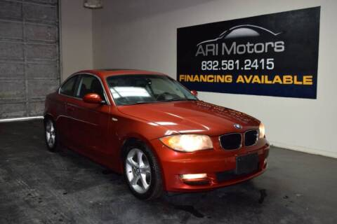 2008 BMW 1 Series for sale at ARI Motors in Houston TX