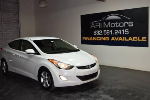 2012 Hyundai Elantra for sale at ARI Motors in Houston TX