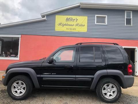 2003 Jeep Liberty for sale in Mc Grann, PA