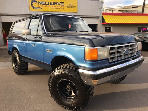 1988 Ford Bronco for sale at New Wave Auto Brokers & Sales in Denver CO