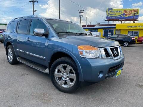 2012 Nissan Armada for sale at New Wave Auto Brokers & Sales in Denver CO