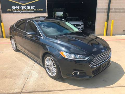 2015 Ford Fusion for sale at KAYALAR MOTORS in Houston TX