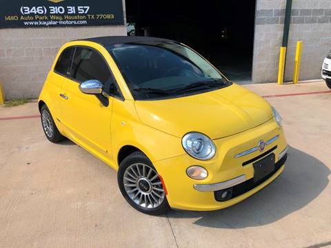 2012 FIAT 500c for sale at KAYALAR MOTORS in Houston TX