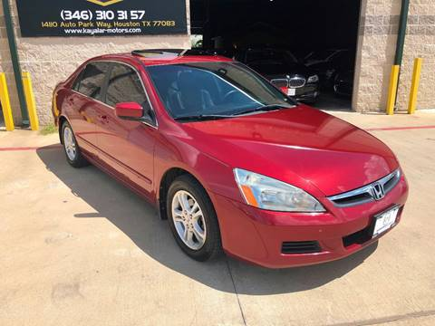 2007 Honda Accord for sale at KAYALAR MOTORS in Houston TX