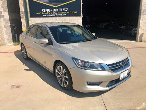 2013 Honda Accord for sale at KAYALAR MOTORS in Houston TX