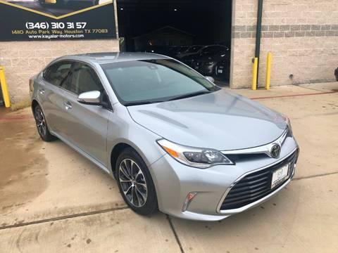 2018 Toyota Avalon for sale at KAYALAR MOTORS in Houston TX