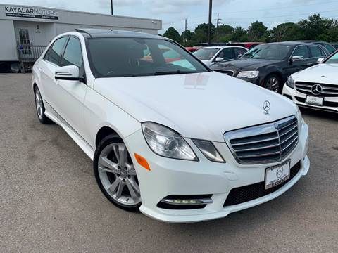 2013 Mercedes-Benz E-Class for sale at KAYALAR MOTORS in Houston TX