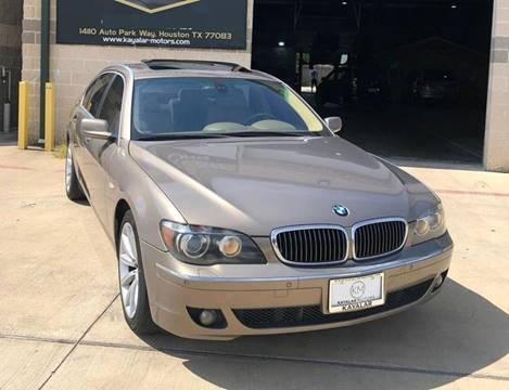 2007 BMW 7 Series for sale at KAYALAR MOTORS Garage in Houston TX