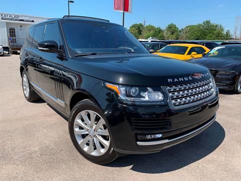 2016 Land Rover Range Rover for sale at KAYALAR MOTORS in Houston TX