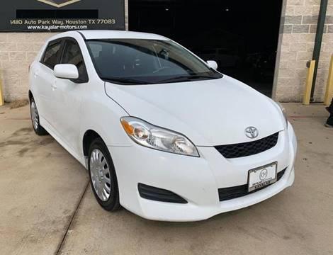 2013 Toyota Matrix for sale at KAYALAR MOTORS Garage in Houston TX