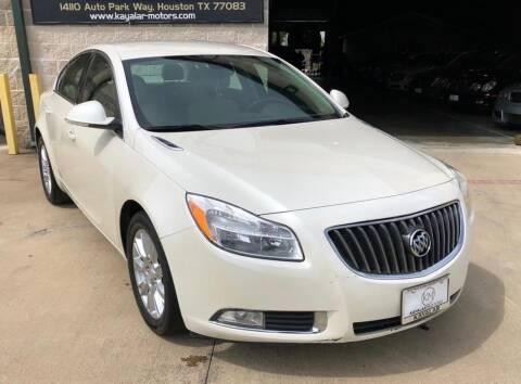 2012 Buick Regal for sale at KAYALAR MOTORS Garage in Houston TX