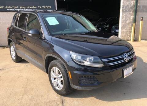 2013 Volkswagen Tiguan for sale at KAYALAR MOTORS Garage in Houston TX