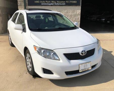 2009 Toyota Corolla for sale at KAYALAR MOTORS Garage in Houston TX