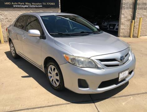 2011 Toyota Corolla for sale at KAYALAR MOTORS Garage in Houston TX